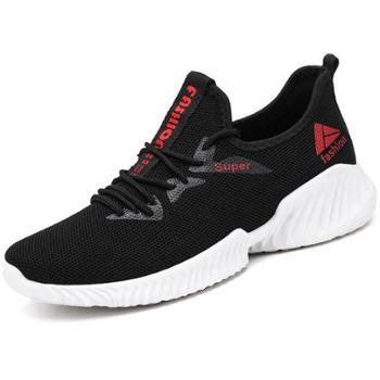 韩版透气网鞋系带飞织鞋运动休闲鞋百搭时尚潮流跑步鞋