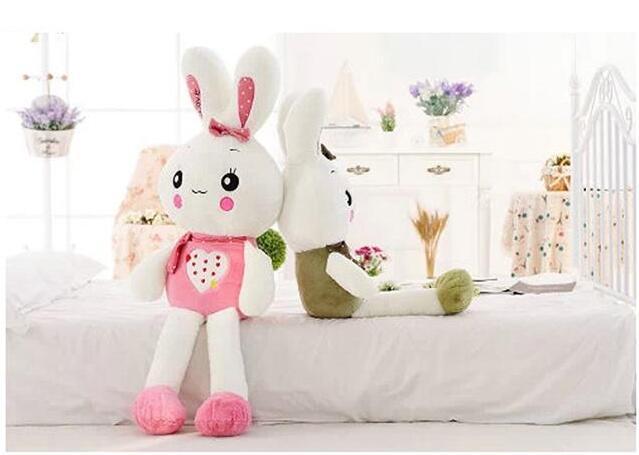 1米爱心大眼兔子 粉色超萌兔娃娃可爱睡觉抱枕玩偶送
