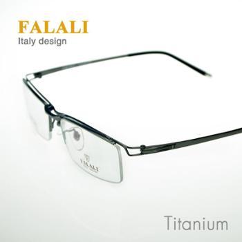 正品FALALI近视框架FT22096高端商务纯钛眼镜架超轻男纯钛碳钎维镜腿近视眼镜框