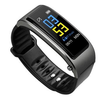 云帝智能手环蓝牙耳机二合一可通话运动计步器手表多功能腕带接打电话测心率健康无线成人分离式安卓苹果通用 彩屏版