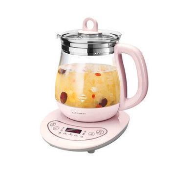 美的养生壶全自动加厚玻璃电热烧水壶煮黑花茶煎药壶煮茶器燕窝