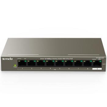 腾达(Tenda)企业工程监控 网络分线器9口百兆8口PoE供电交换机