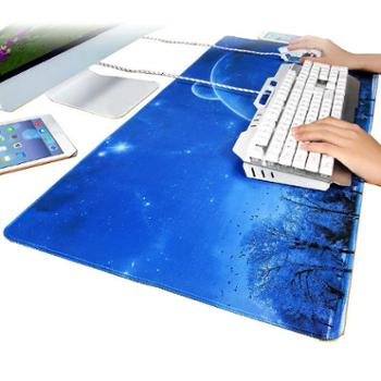 游戏超大大号鼠标垫女锁边可爱女生动漫小号加厚笔记本电脑书桌垫办公桌垫学生键盘手托创意定制男