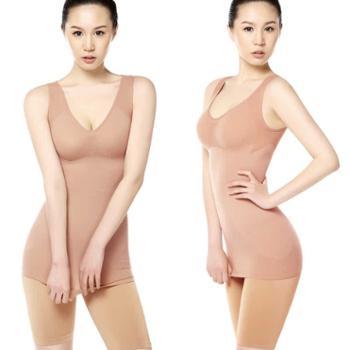 迪粲薄无痕产后肉色收腹塑形衣美体塑身内衣束身衣全包紧身衣