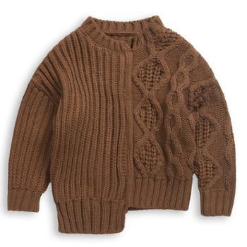 2018儿童半高领毛衣冬季新款男女童粗针线衣针织衫中小童保暖毛衣