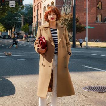 韩国东大门毛呢外套女2017冬季新款女装韩版羊绒大衣女式呢大衣