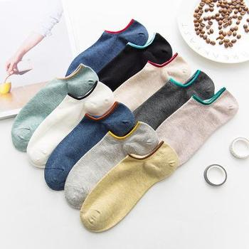 春夏新款袜子男士隐形袜棉袜 百搭纯色男袜低帮浅口袜3双