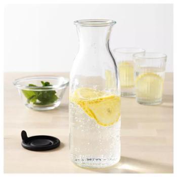瓦达恩带盖玻璃瓶水瓶密封酒瓶饮料柠檬水蜂蜜500ml瓶一个