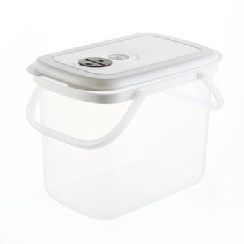 (厨房用具)多功能12KG储米桶可手提防虫防潮加厚面粉桶杂粮储物桶钓鱼桶