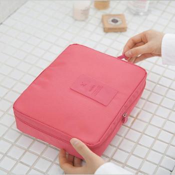 (生活用品)旅行便携式洗漱包大容量女式防水化妆包多功能收纳包