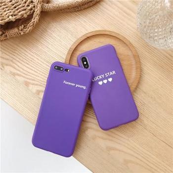 情侣文字iPhoneX手机壳oppoR15/R11S/X21/X20/a79/A3/A5软tpu紫颜色随机(可备注)