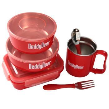 韩国杯具熊BeddyBear儿童保温餐具6件套红色