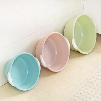 (1个装)家用洗脸盆塑料盆大号加厚圆形洗菜盆搓衣盆洗衣服盆洗脚盆(大号)
