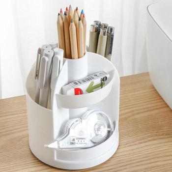 创意笔筒桌面塑料分格笔筒多功能收纳盒办公用品学生文具收纳筒