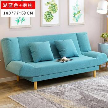 (客厅沙发)小户型沙发床可折叠客厅懒人沙发1.8米双人折叠沙发床两用