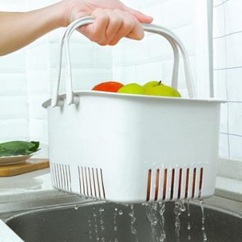 (生活用品)手提沥水收纳筐1个装