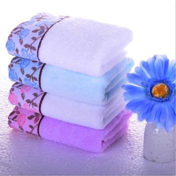青海特惠 璞竹清新花语毛巾两条装颜色随机