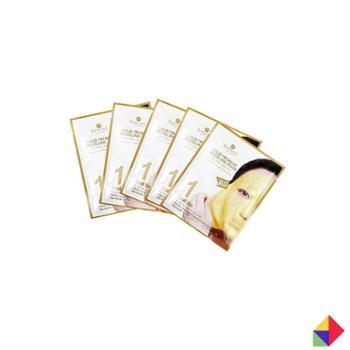 SHANGPREE/香蒲丽黄金水光面膜G5片韩国商城美容个护面部护理护肤套装