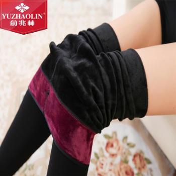 俞兆林秋冬新品加绒打底一体裤 女士锦纶打底外穿踩脚裤
