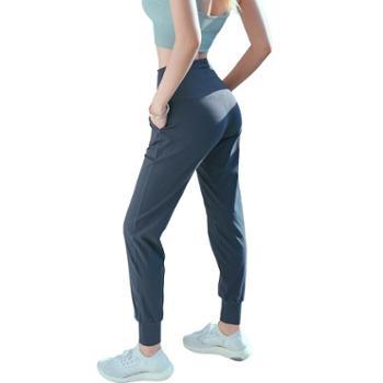 女士宽松束脚锥形跑步健身裤 双面裸感蜜桃提臀运动瑜伽裤