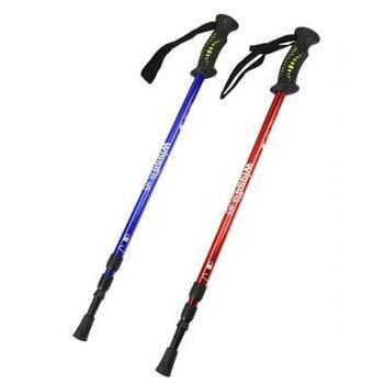 维仕蓝三节可调节超轻专业登山杖 WA8039