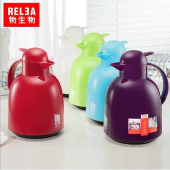 物生物欧式莹彩保温壶玻璃内胆家用暖壶水壶大容量暖热水瓶1.5L