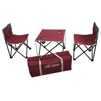 易路达折叠桌椅三件套 YLD-TZS02