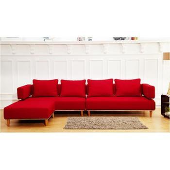 曲美布艺沙发组合沙发红灰色可选留言备注