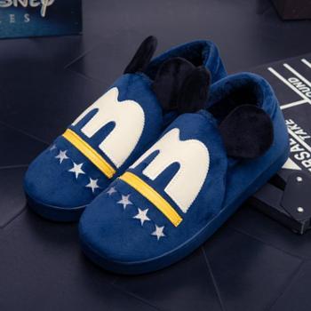 冬季棉拖鞋男防滑儿童保暖棉鞋卡通套脚包跟居家宝宝拖鞋