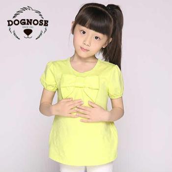 dognose女童2015夏装新款中小童短袖上衣 儿童短袖