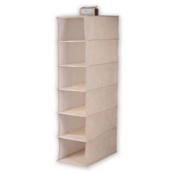 清野の木布艺收纳挂袋①号麻质可折叠收纳箱衣物整理袋小号6层