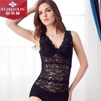 俞兆林背心女花边带胸垫深V领百搭修身显瘦蕾丝内衣性感蕾丝裹胸