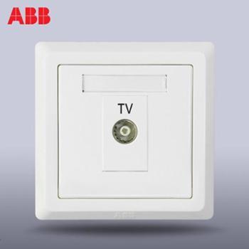 ABB开关插座面板abb德逸雅白弱电86型有线电视面板插座正品AE301