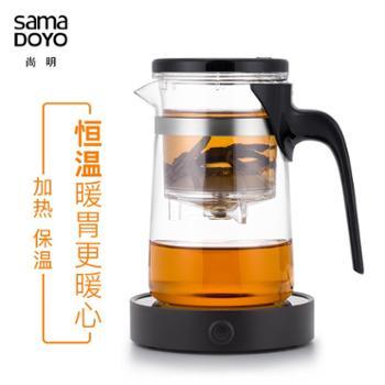 尚明加厚飘逸杯耐热玻璃茶壶花茶叶杯过滤冲泡茶器茶具茶道杯家用杯子