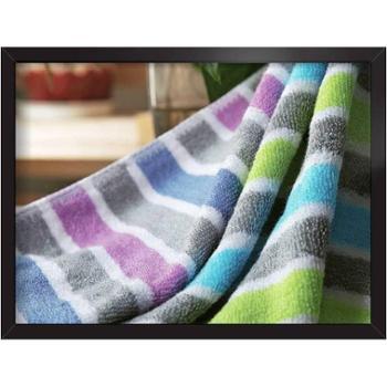 爱竹人100%竹纤维毛巾条纹毛巾4件套(30cm×60cm)