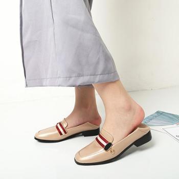淇路缘 新款春季英伦风女鞋休闲复古彩带小皮鞋方头粗跟马衔扣女单鞋