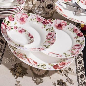 竹林间 56头骨瓷餐具套装景德镇陶瓷器碗碟套碗乱世佳人