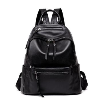 迈罗新款头层牛皮女士旅行双肩包欧美真皮女包大包大容量背包