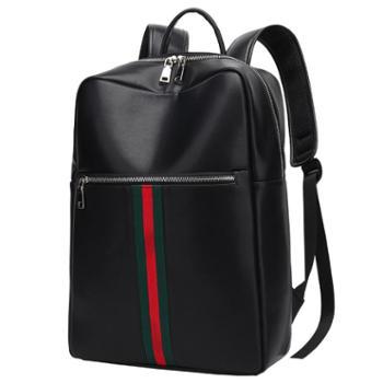 费洛新款头层牛皮电脑包商务时尚潮大容量真皮旅行背包男士双肩包