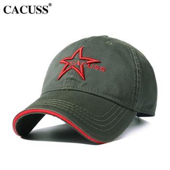 CACUSS夏季帽子男刺绣女士韩版遮阳帽休闲户外帽韩版棒球帽