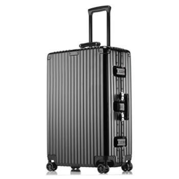 菲恩堡 新款万向轮拉杆箱复古旅行箱防水铝框箱行李箱