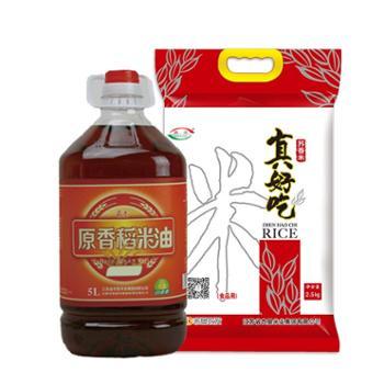 油和米分开发货【苏垦米业】苏垦超值套餐:(稻米油5L+苏香真好吃2.5kg)