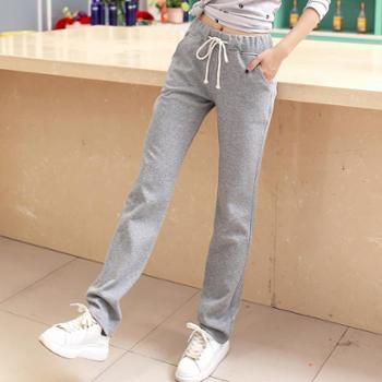 秋季新款运动裤长裤子薄款直筒宽松卫裤休闲裤阔腿裤女夏跑步女裤