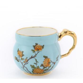 398元个性化定制夫人瓷西湖蓝清心单杯