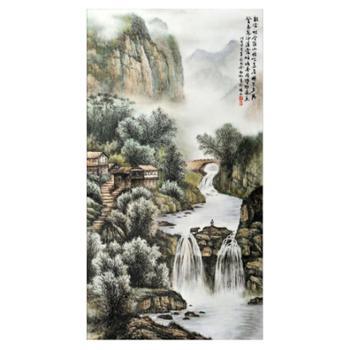 18000元个性化定制·山水粉彩瓷板