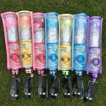 天堂伞336T银胶雨伞钢骨晴雨伞防紫外线遮阳伞可印logo广告伞