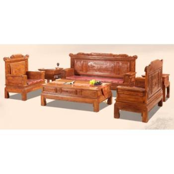 红木沙发 花梨木沙发茶几配套 中式全实木家具兰亭序沙发