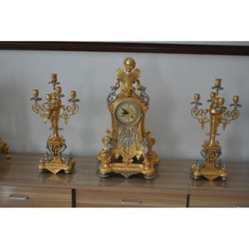 LangeloMa 天使头像钟(配蜡烛台一对)