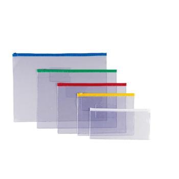 金得利透明学生拉边袋 文件袋拉链文件袋票据袋 F53 单个商品