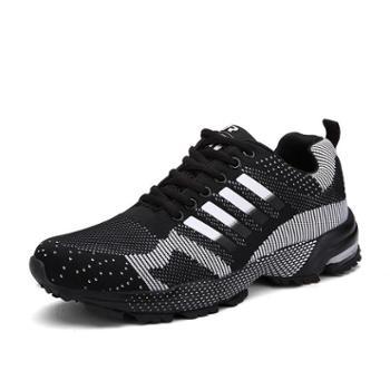 雷宾迪飞线情侣跑步鞋夏季透气休闲运动男鞋8701